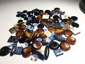 Bulk Size Shape Genuine Rare Vintage CABOCHON Gem Stone Making Jewellery 100 Pc