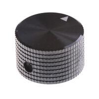 Black Aluminum Rotary Control Potentiometer Knob 25mm x 15mm JF