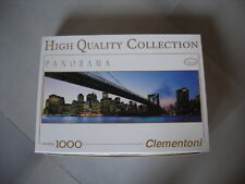 puzzle 1000 pièces panorama pont de brooklyn high quality collection clementoni