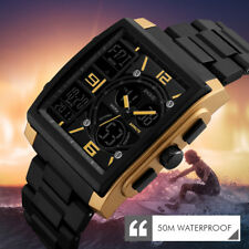 SKMEI Quartz Men Wristwatch Outdoor Sport Watches LED Digital Waterproof Watch w