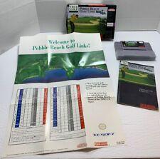 Pebble Beach Golf Links Super Nintendo Entertainment System 1992 SNES In Box