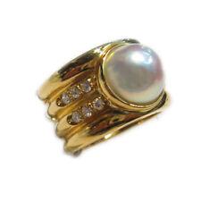 mikawa by Damiani anello in oro giallo con perla diamanti 0.30 nuovo