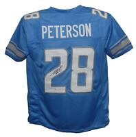 Adrian Peterson Autographed/Signed Pro Style Blue XL Jersey BAS 29346