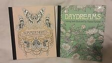 New! Day Dreams and Summer Nights Adult Coloring Books: Hannah Karlzon
