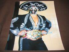 Wrestling Legend Hall Of Famer Mil Mascaras Autograph 8X10 Photo W/Coa Free Ship