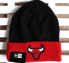 NEW Era Chicago Bulls Nero Rosso Beanie Toque Profondo Polsino Cappello  Baseball MLB TAG USA 83e08311d7a5