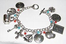 Once Upon A Time bracelet 11 breloques symboles serie OUAT charms bracelet