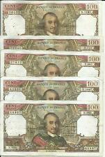 FRANCE LOT 5x 100 FRANCS CORNEILLE  P 149. VF CONDITION. 4RW 11ABRIL