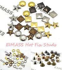 100 X Hot Fix/Pegamento en eimass ® Bolsas De Cobre Tachuelas para teléfonos Zapatos Disfraz Craft