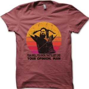 The Dude your opinion man The Big Lebowski funny printed t-shirt 8975