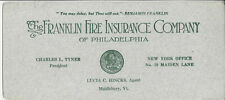 THE FRANKLIN FIRE INSURANCE COMPANY OF PHILADELPHIA,LUCIA C. HINCKS,AGENT