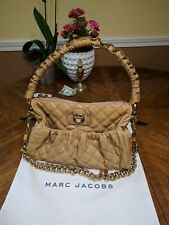 MARC JACOBS Quilted Yellow Leather STAM Frame Bag Medium,zipper  Chain Strap