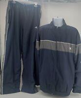 Russell Athletic Windbreaker Jacket Pants Blue Gray Mens Size 2XL