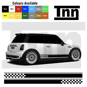 Side Stripe Stickers Vinyl Graphics Decals For Mini Cooper S One Clubman Flag