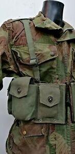 Belgian FAL/BAR Ammo vest/chest rig assault webbing pouches harness Congo Rare