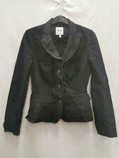 Moschino Jeans Damen Blazer schwarz mit Taschen Baumwollmischung Größe S