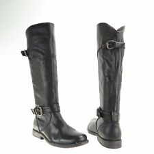 Women's Fry Philip Shoes Black Leather Knee High Harness Boots Size 5.5 M NEW!