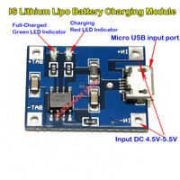 DC5V 1A Micro USB Lipo Charger Board Lithium Battery Charging Module for Arduino