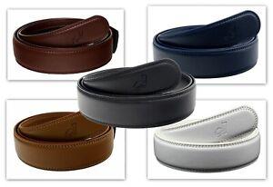 Mens Ratchet Leather Belts Replacement Automatic Belt Strap No Buckle by QHA Q01
