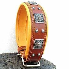 "Bestia ""Eros Genuine Leather Dog Collar, Large Breeds, Cane Corso, Rottweiler,."
