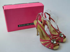 River Island Women's 100% Leather Strappy, Ankle Straps Heels