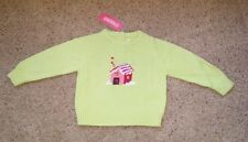 Gymboree Sugar and Spice gingerbread house green sweater NWT