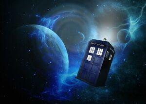 DOCTOR WHO Tardis British Movie  Large Poster Print Wall Art Room Decoration