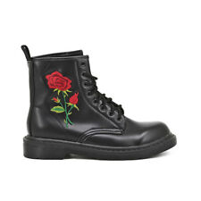 Queen Helena Stivaletti donna stivali scarpe anfibi Comodi Casual Classici nero