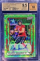 Patrick Mahomes 2019 Panini The National VIP Auto Neon Green 5/5 BGS 9.5 Gem