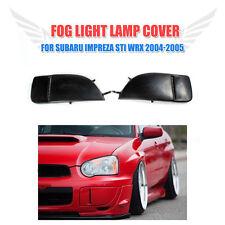 2x Black Front Bumper Fog Light Lamp Cover Cap for Subaru Impreza STI WRX 04-05