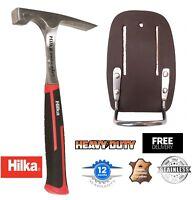 HILKA 22oz Brick Hammer 1 Piece Forged Soft Grip & Leather Hammer Holder CHOOSE
