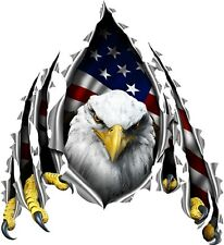 American flag eagle rip cornhole board game decals
