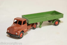 BRITAINS LILLIPUT FORDSON AUSTIN TRUCK WITH TRAILER BROWN GREEN EXCELLENT RARE
