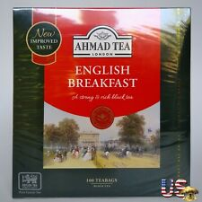 Ahmad Tea London Brand English Breakfast 100 Ceylon Tea Bags Strong& Rich Black