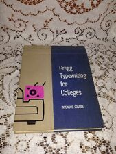 Gregg Typewriting for Colleges Intensive Course John L. Rowe, Alan C. Lloyd 1957