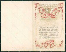 Militari 77º 78º Reggimento Fanteria Brigata Toscana doppia cartolina XF5449