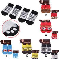Pet Dog socksPuppy Cat socks Boots Floor Antislip Paw Protector Socks 6L