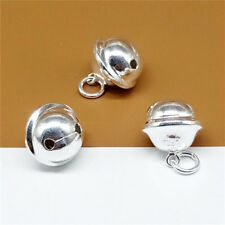 Sterling Silver Jingle Collar Bell Dog Cat Collar Bell Bracelet Necklace Charm