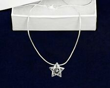 Sterling Silver-Plated Star Paw Dog Cat Pendant Necklace - SALE BENEFITS RESCUE