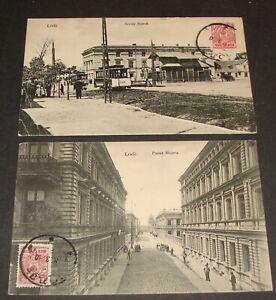 1910 Poland Lodz Photo Postcard x2
