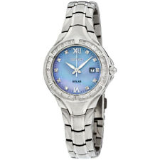 Seiko Diamantes Madre de Perla Dial De Movimiento De Cuarzo Reloj de Señoras SUT371