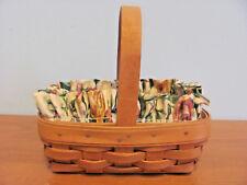Longaberger 1996 American Cancer Society Basket, Liner & Protector