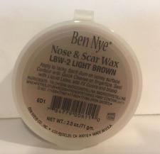 Ben Nye Nose & Scar Wax Light Brown 2.5 oz Modeling Makeup Putty LBW-2