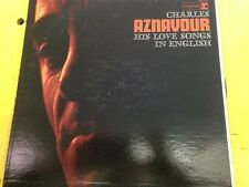 CHARLES AZNAVOUR LP His Love Songs In English (EX)