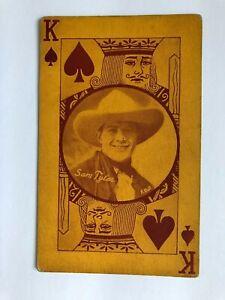 """(sam) TOM TYLER -WESTERN cowboy MOVIE star 1920s arcade/exhibit """"ERROR"""" postcard"""