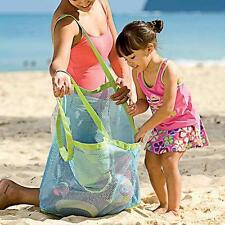 Vert sable extérieur Transporter Tous Plage Sac En Filet sac Natation,Jouets,