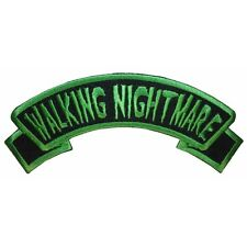 """""""Walking Nightmare"""" Name Tag Zombie Psycho Kreepsville Embroidered Iron On Patch"""