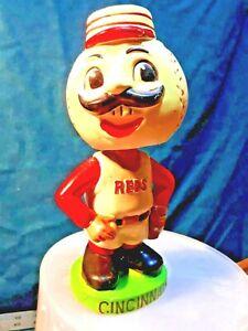 VINTAGE CINCiNNATI REDS MASCOT BASEBALL MR RED PITCHER BOBBLEHEAD NODDER 1960's