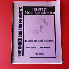 LIVRE DE MAGIE EN ANGLAIS THE ART OF CLOSE UP LEVITATION I 30 PAGES 1998