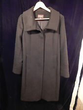 Women's Cole Haan Collection Black Long Coat Size 8; 50% Wool 50% Cashmere